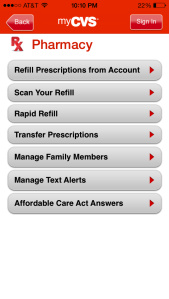 CVS mobile app pharmacy