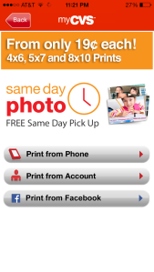 CVS Mobile App Photo Ordering